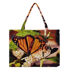 Monarch Butterfly Nature Orange Medium Tote Bag by Amaryn4rt