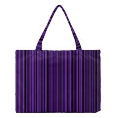 Purple Medium Tote Bag by Valentinaart