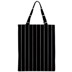 Black And White Lines Zipper Classic Tote Bag by Valentinaart