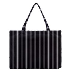 Black And White Lines Medium Tote Bag by Valentinaart