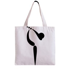 Artistic Roller Skating Pictogram Grocery Tote Bag by abbeyz71