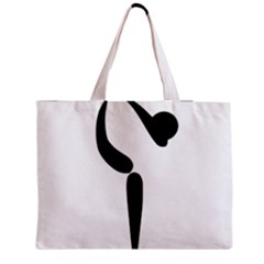 Artistic Roller Skating Pictogram Medium Tote Bag by abbeyz71