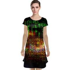 Radar Kaleidoscope Pattern Cap Sleeve Nightdress by Amaryn4rt