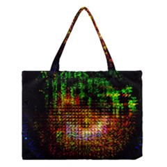 Radar Kaleidoscope Pattern Medium Tote Bag by Amaryn4rt