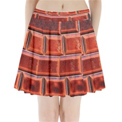 Portugal Ceramic Tiles Wall Pleated Mini Skirt by Amaryn4rt