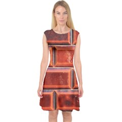 Portugal Ceramic Tiles Wall Capsleeve Midi Dress by Amaryn4rt