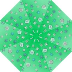 Snowflakes Winter Christmas Overlay Straight Umbrellas by Amaryn4rt