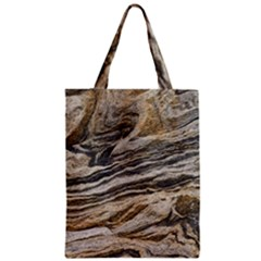 Rock Texture Background Stone Zipper Classic Tote Bag by Amaryn4rt