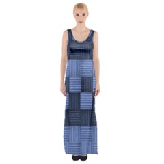 Texture Structure Surface Basket Maxi Thigh Split Dress by Amaryn4rt