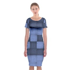 Texture Structure Surface Basket Classic Short Sleeve Midi Dress by Amaryn4rt