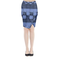 Texture Structure Surface Basket Midi Wrap Pencil Skirt by Amaryn4rt