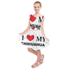 Chihuahua Love Kids  Short Sleeve Dress by TailWags