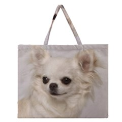Chihuahua Zipper Large Tote Bag by TailWags
