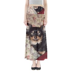 Long Haired Chihuahua In Bed Maxi Skirts by TailWags