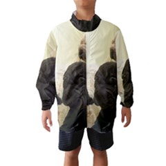 Sharpei Pups Black And Creme Wind Breaker (Kids) by TailWags