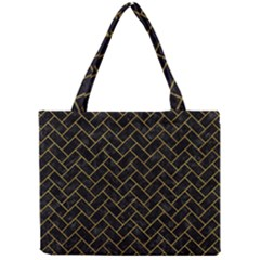 Brick2 Black Marble & Yellow Marble Mini Tote Bag by trendistuff
