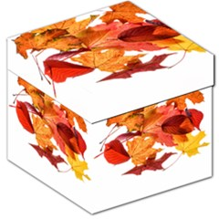 Autumn Leaves Leaf Transparent Storage Stool 12   by Amaryn4rt