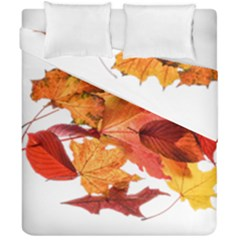 Autumn Leaves Leaf Transparent Duvet Cover Double Side (california King Size) by Amaryn4rt