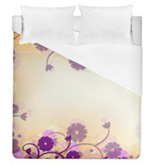 Background Floral Background Duvet Cover (queen Size) by Amaryn4rt
