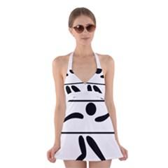 Badminton Pictogram Halter Swimsuit Dress by abbeyz71