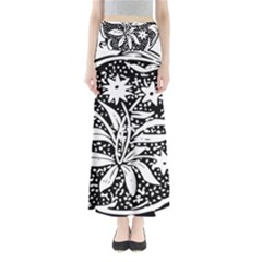 Decoration Pattern Design Flower Maxi Skirts