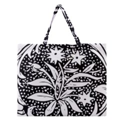 Decoration Pattern Design Flower Zipper Large Tote Bag by Amaryn4rt