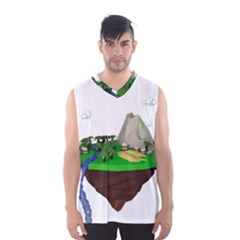 Low Poly 3d Render Polygon Men s Basketball Tank Top by Amaryn4rt