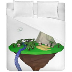 Low Poly 3d Render Polygon Duvet Cover Double Side (california King Size) by Amaryn4rt
