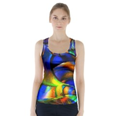 Light Texture Abstract Background Racer Back Sports Top