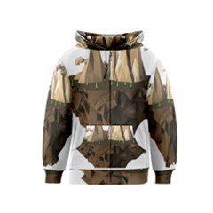 Low Poly Floating Island 3d Render Kids  Zipper Hoodie