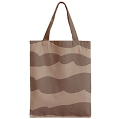 Pattern Wave Beige Brown Zipper Classic Tote Bag by Amaryn4rt