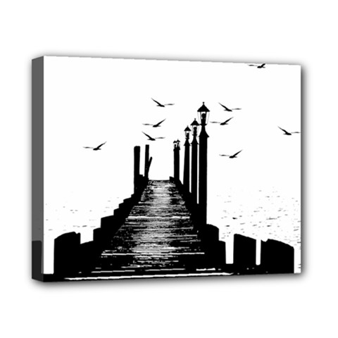 The Pier The Seagulls Sea Graphics Canvas 10  X 8  by Amaryn4rt