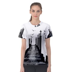 The Pier The Seagulls Sea Graphics Women s Sport Mesh Tee by Amaryn4rt