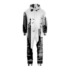 The Pier The Seagulls Sea Graphics Hooded Jumpsuit (kids) by Amaryn4rt
