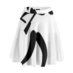 Biathlon Pictogram High Waist Skirt by abbeyz71