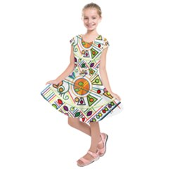 Vector Icon Symbol Sign Design Kids  Short Sleeve Dress by Amaryn4rt