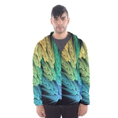 Abstract Fractal Hooded Wind Breaker (men)