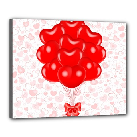 Abstract Background Balloon Canvas 20  x 16  by Nexatart