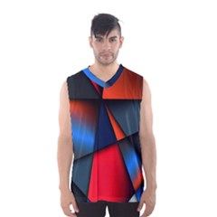 3d And Abstract Men s Basketball Tank Top by Nexatart