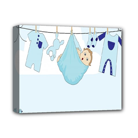 Baby Boy Clothes Line Deluxe Canvas 14  X 11