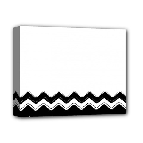 Chevrons Black Pattern Background Deluxe Canvas 14  X 11  by Nexatart