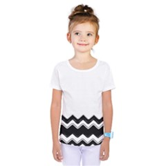 Chevrons Black Pattern Background Kids  One Piece Tee by Nexatart