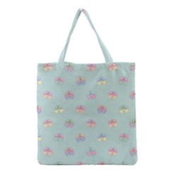 Butterfly Pastel Insect Green Grocery Tote Bag