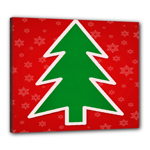 Christmas Tree Canvas 24  X 20  by Nexatart