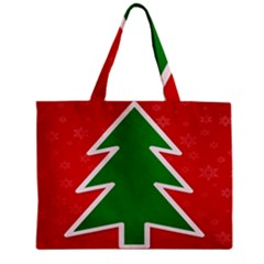 Christmas Tree Zipper Mini Tote Bag by Nexatart