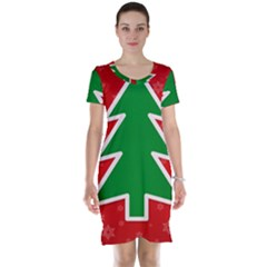 Christmas Tree Short Sleeve Nightdress by Nexatart