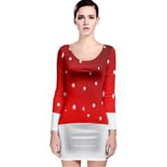 Christmas Background  Long Sleeve Bodycon Dress