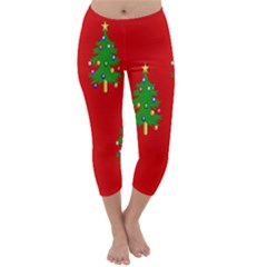 Christmas Trees Capri Winter Leggings  by Nexatart