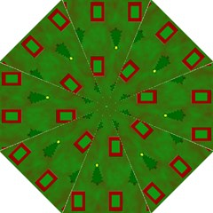 Christmas Trees And Boxes Background Golf Umbrellas