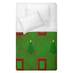 Christmas Trees And Boxes Background Duvet Cover (single Size) by Nexatart